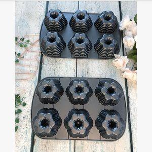 Nordic ware cast iron mini Bundt cake pans baking
